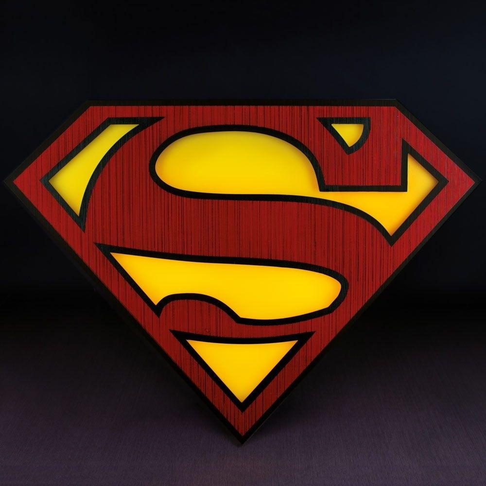 superman logo light - superman emblem wall light | menkind