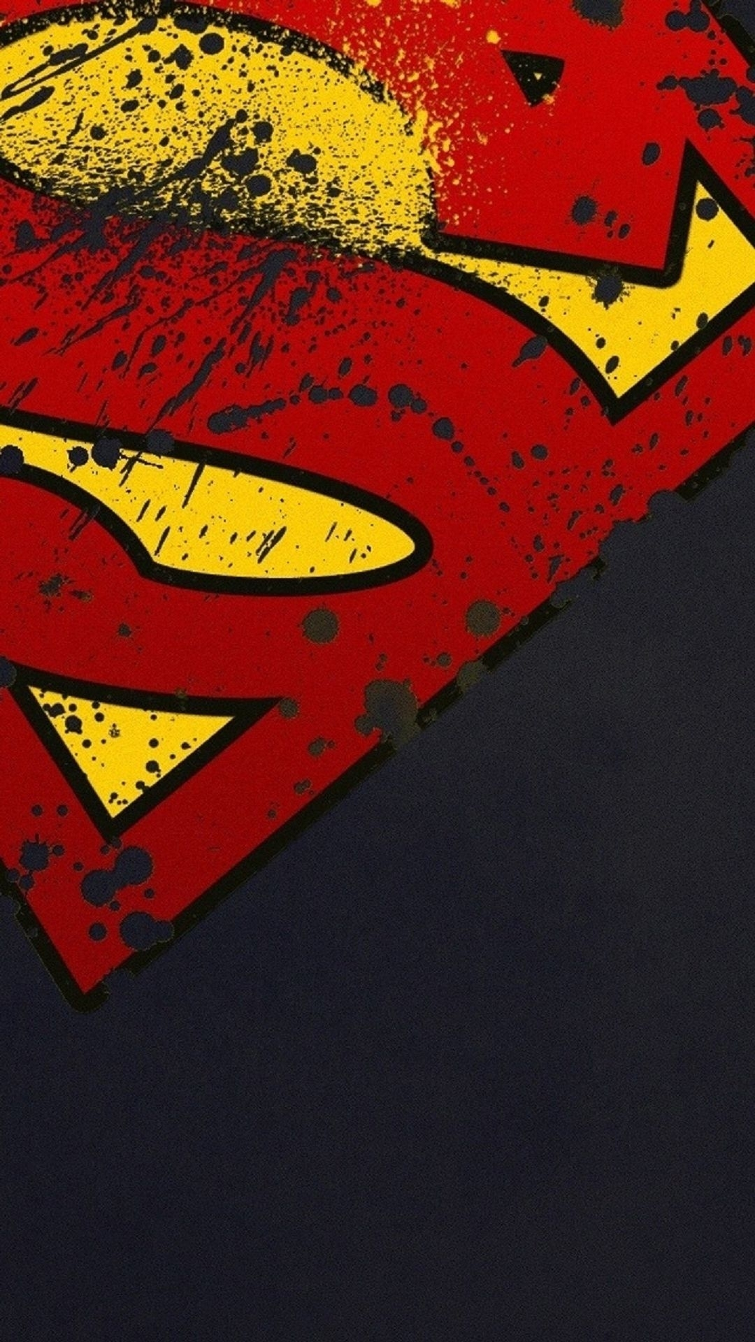 superman logo minimal android wallpaper free download