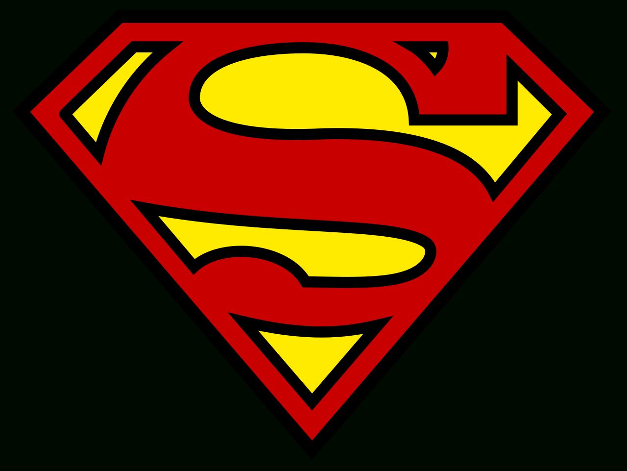 superman-zeichen als icon, schrifttyp und zum selbstzeichnen