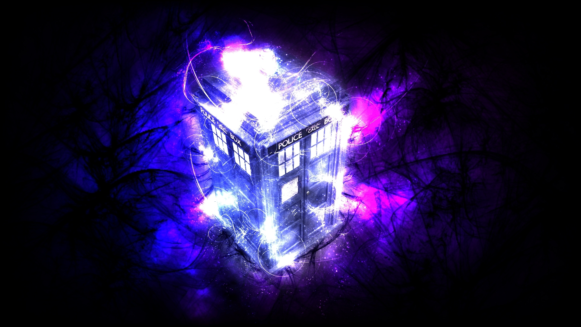 tardis magic full hd wallpaper and background image | 1920x1080 | id