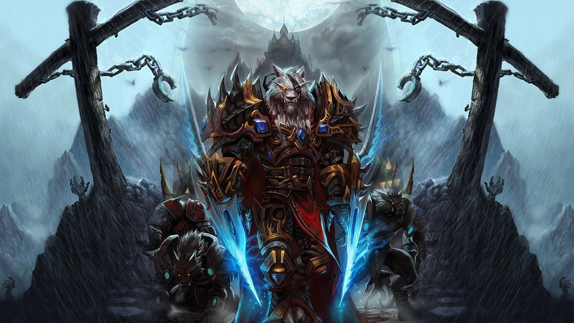 télécharger 1920x1080 full hd fond d'écran world of warcraft loup