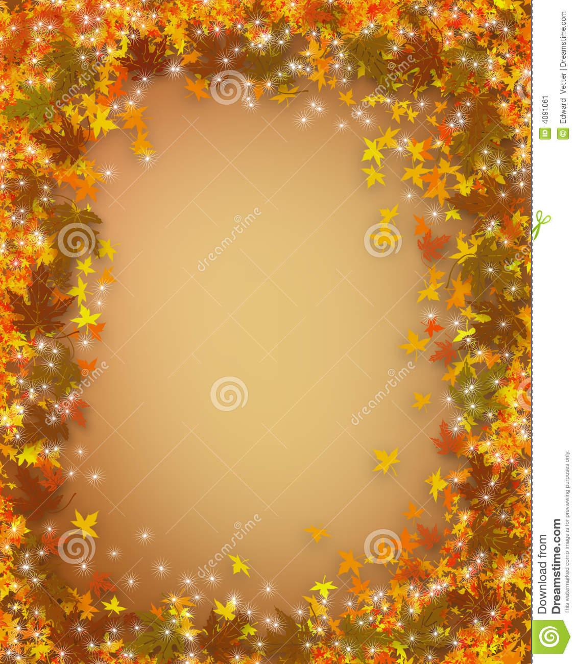 thanksgiving fall autumn border stock illustration - illustration of