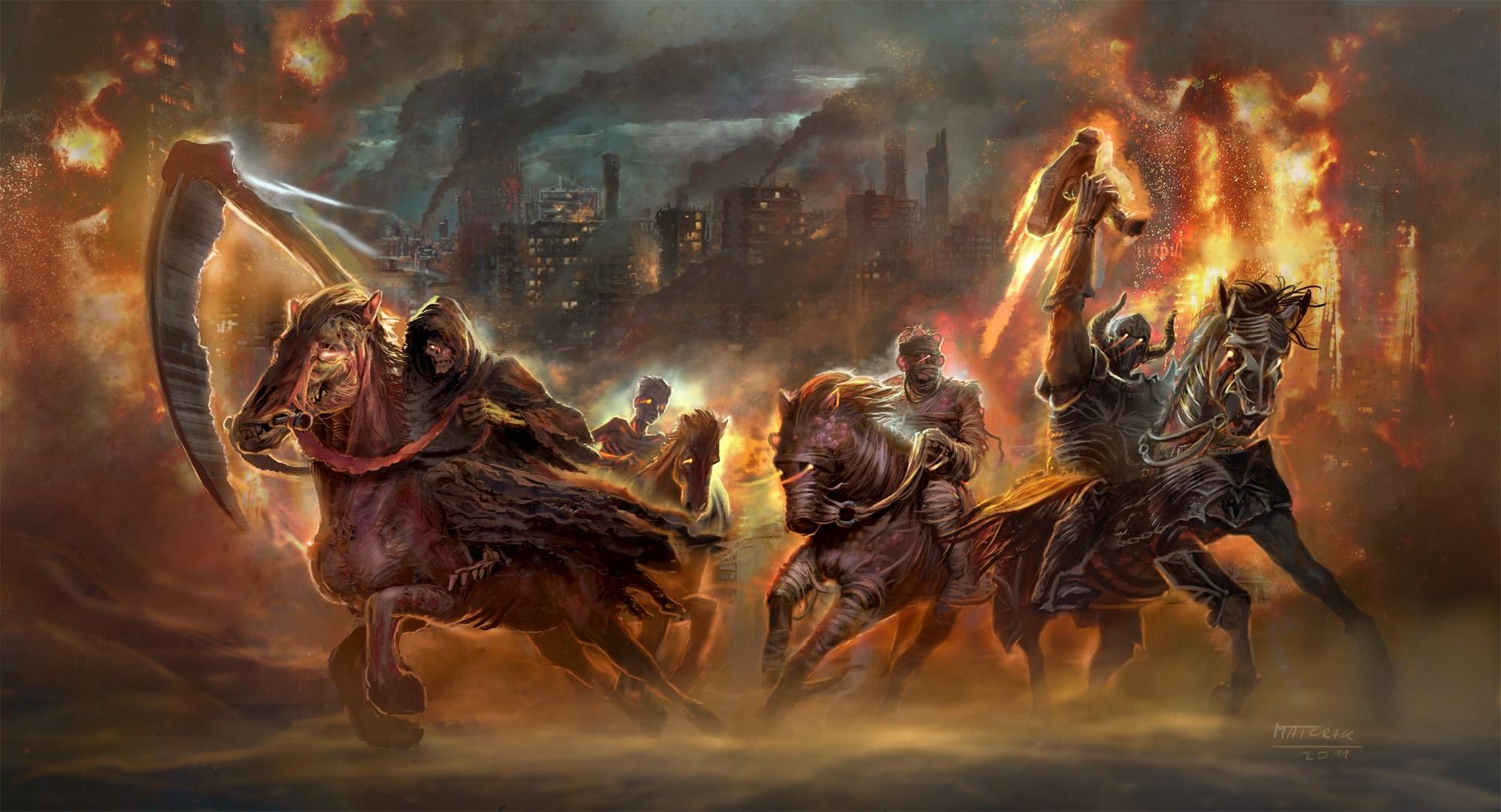 the four horsemen of the apocalypse full hd fond d'écran and arrière