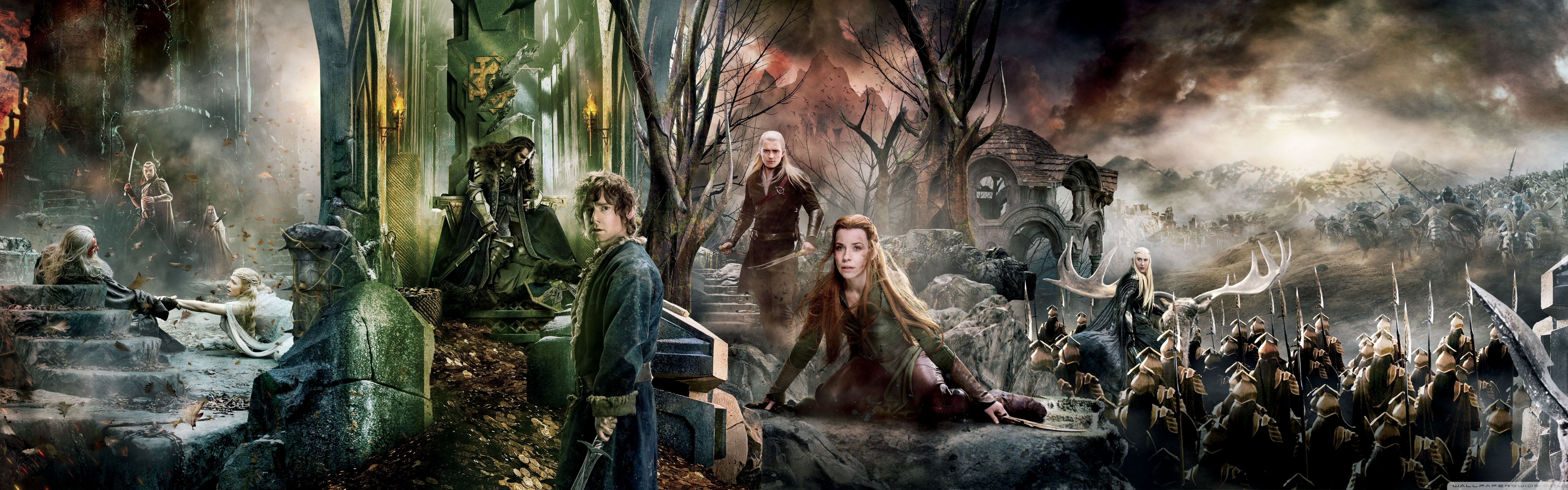 the hobbit the battle of the five armies dual monitor ❤ 4k hd