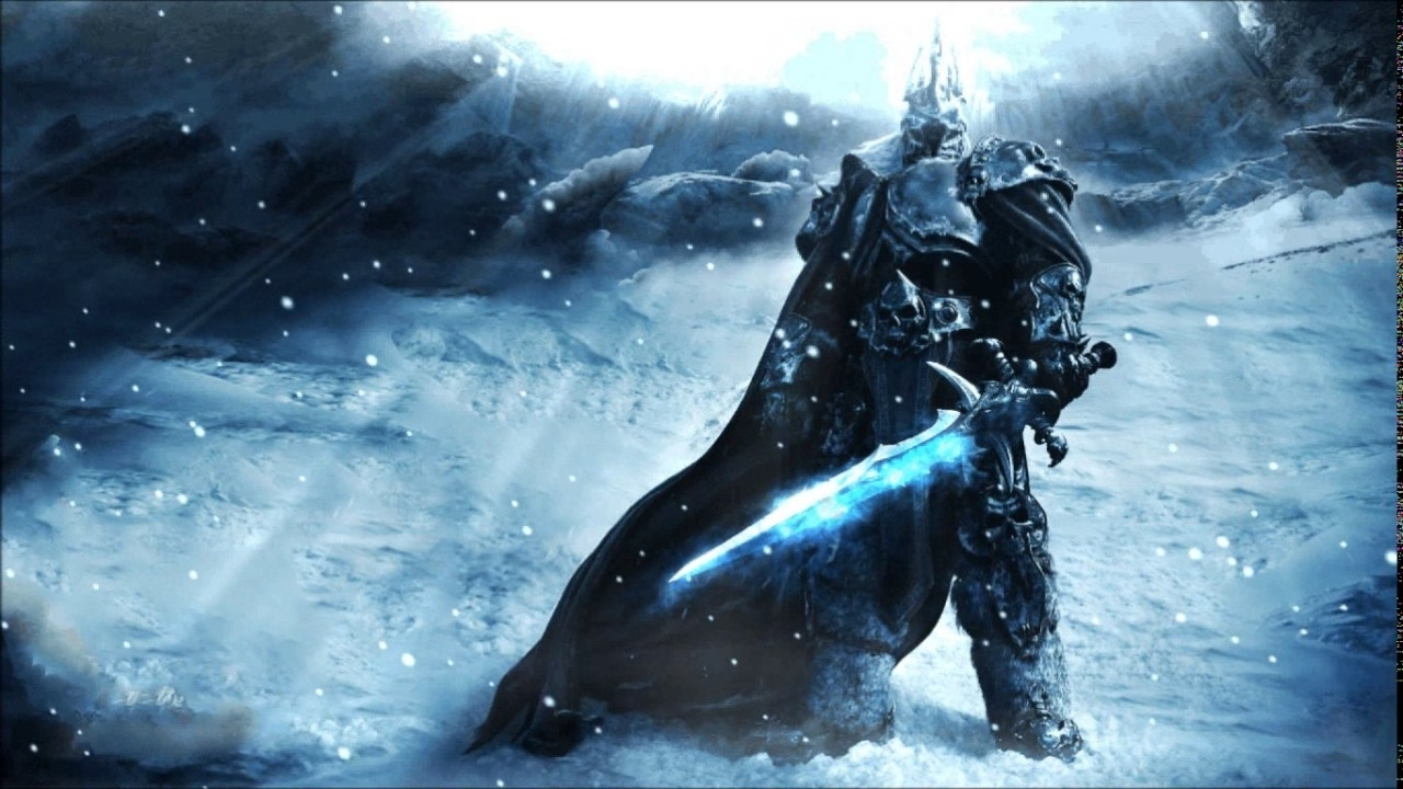 the lich king/wow - dreamscene - animated wallpaper - hd + ddl