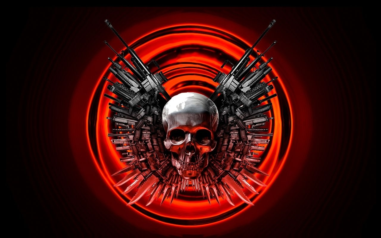 the punisher skull with guns | skulls guns wallpaper 1280x800 skulls