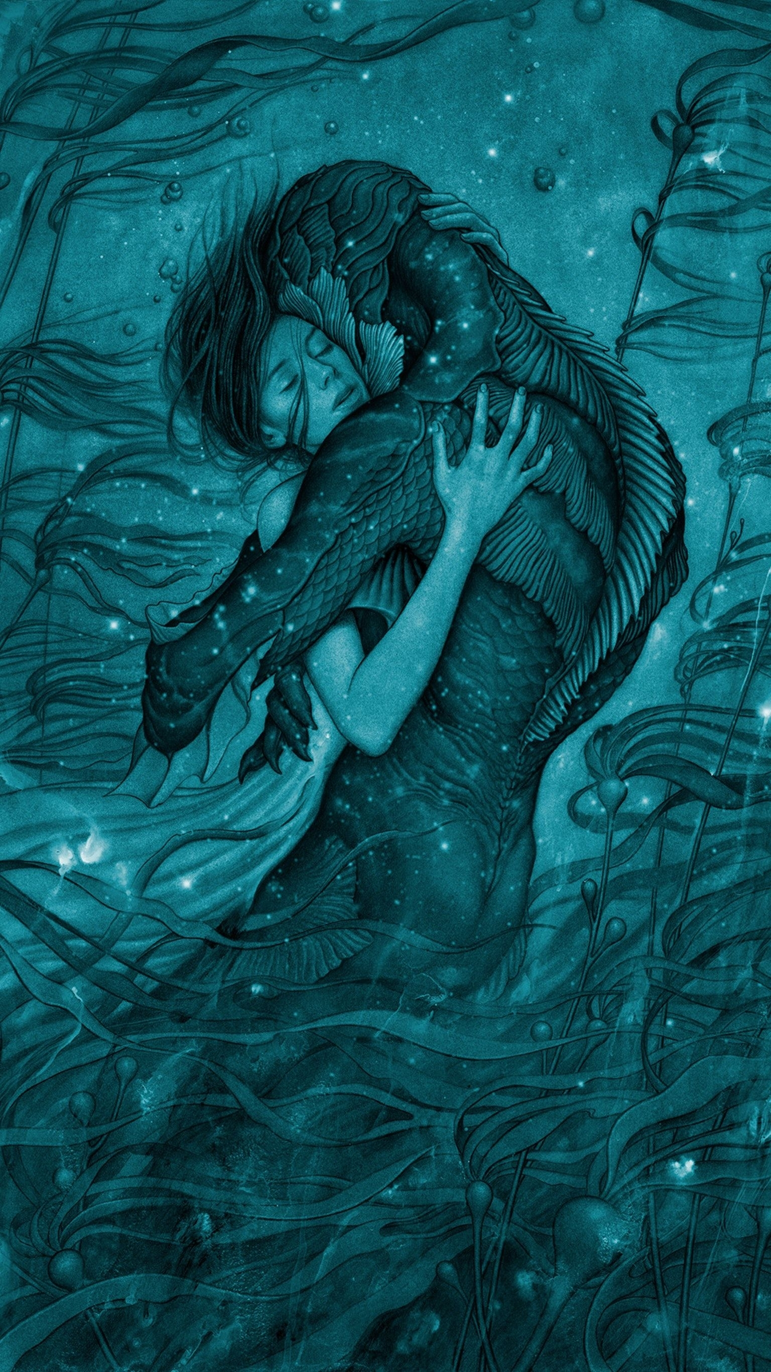the shape of water (2017) phone wallpaper | shapes, wallpaper and phone