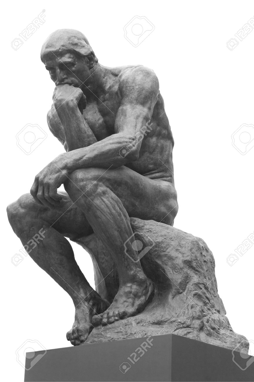 the thinker statuethe french sculptor rodin stock photo, picture