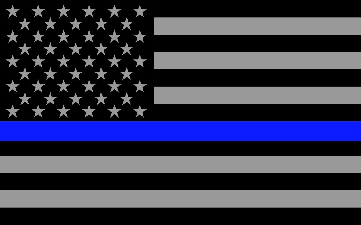 thin blue line wallpapers group (42+)