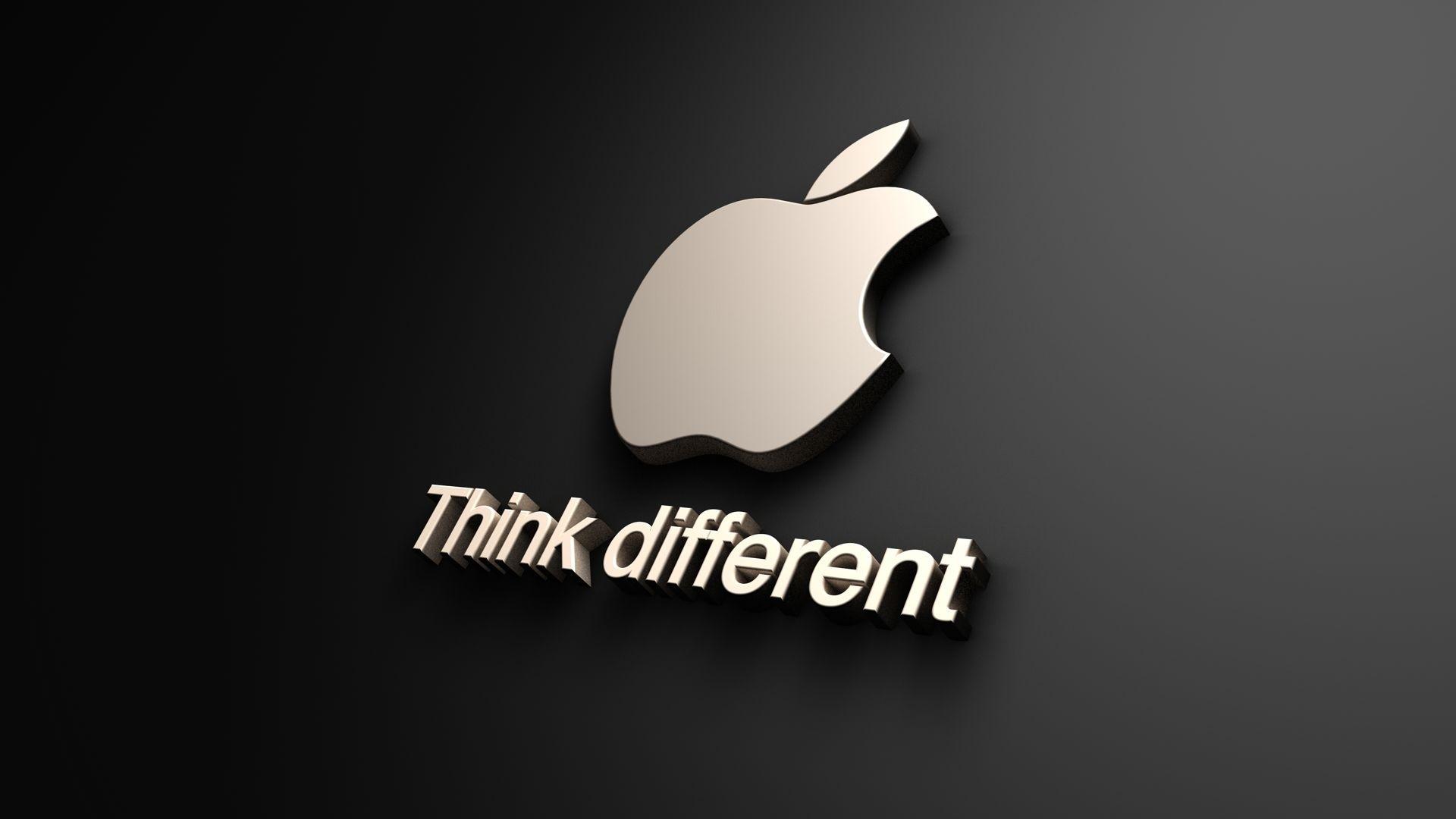 think different apple logo 1080p #1080p, #apple, #computers, #logo
