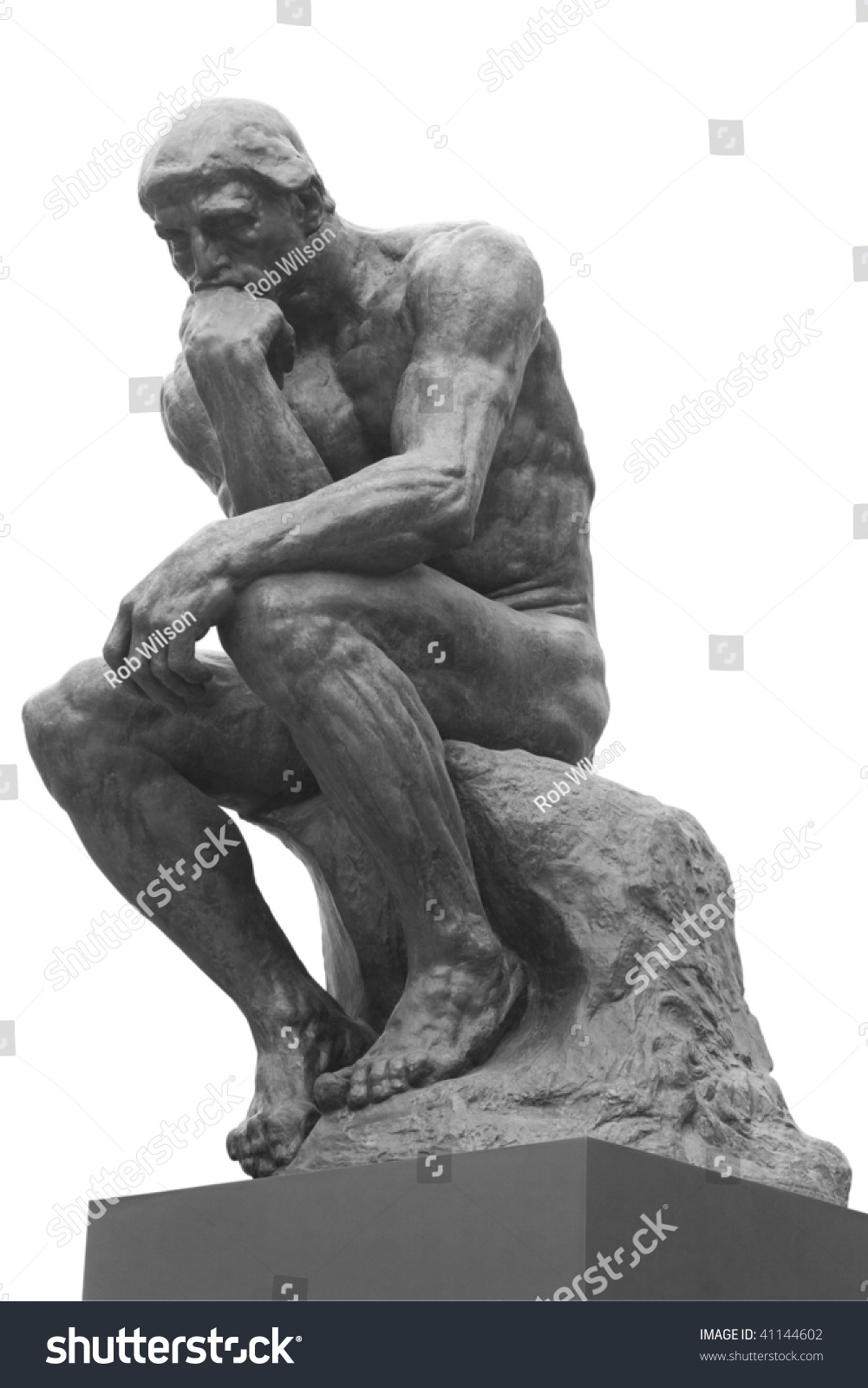 thinker statuefrench sculptor rodin stock photo (royalty free