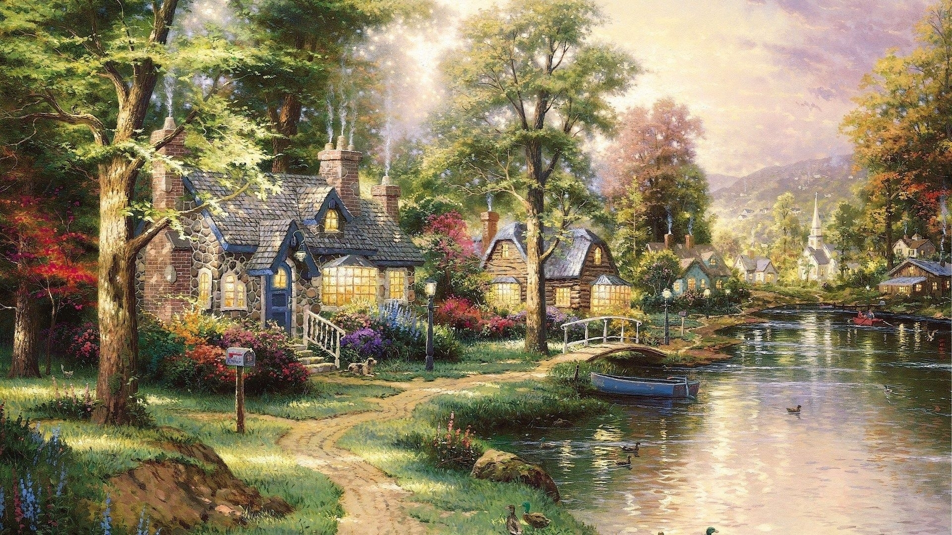 thomas kinkade | awesome wallpapers | thomas kincade paintings