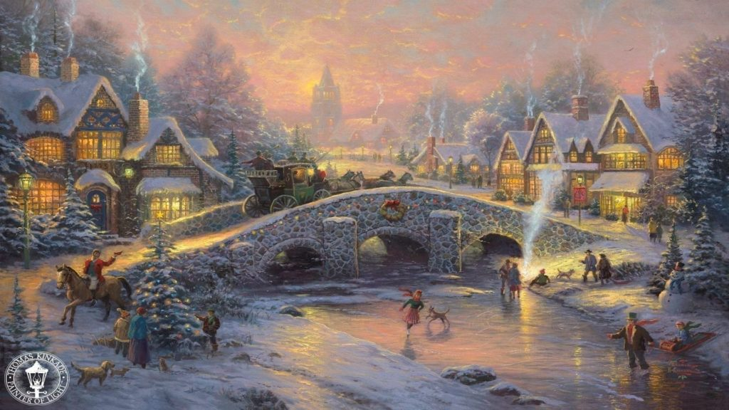 10 New Thomas Kinkade Christmas Wallpaper Hd FULL HD 1920×1080 For PC Desktop 2018 free download thomas kinkade christmas 495833 walldevil 1024x576
