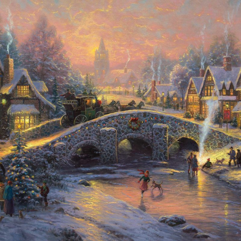 10 Most Popular Christmas Thomas Kinkade Wallpaper FULL HD 1920×1080 For PC Background 2018