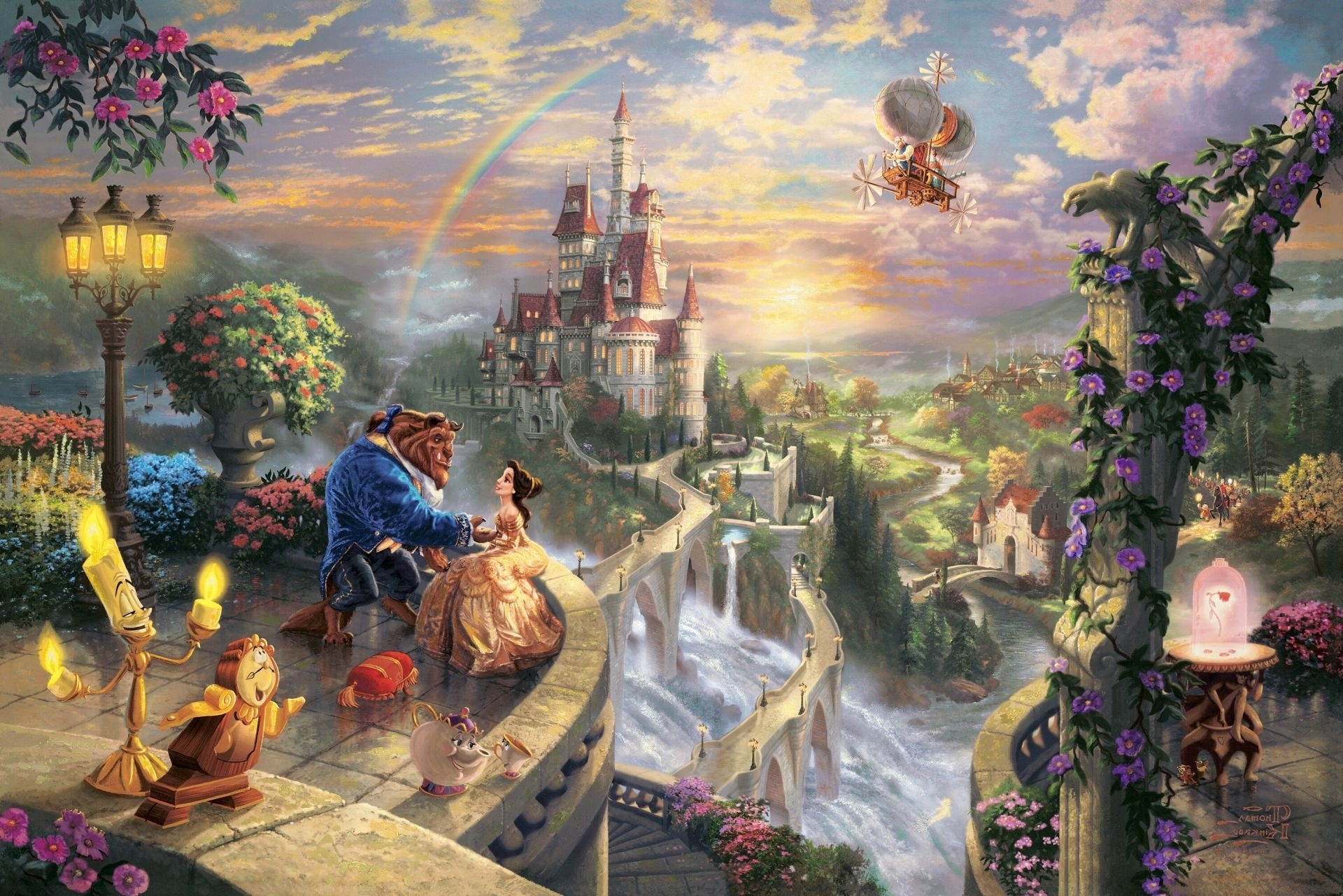 thomas kinkade the disney dreams collection beauty and the. android