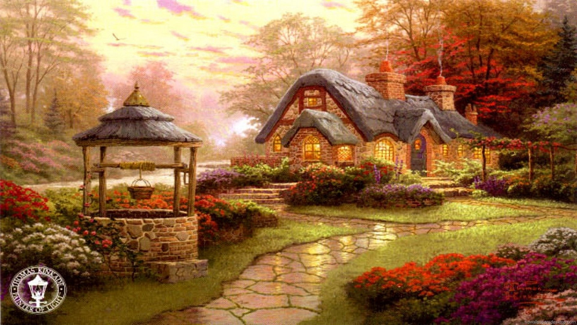 10 Best Thomas Kinkade Screensavers Windows 7 FULL HD 1920×1080 For PC Background