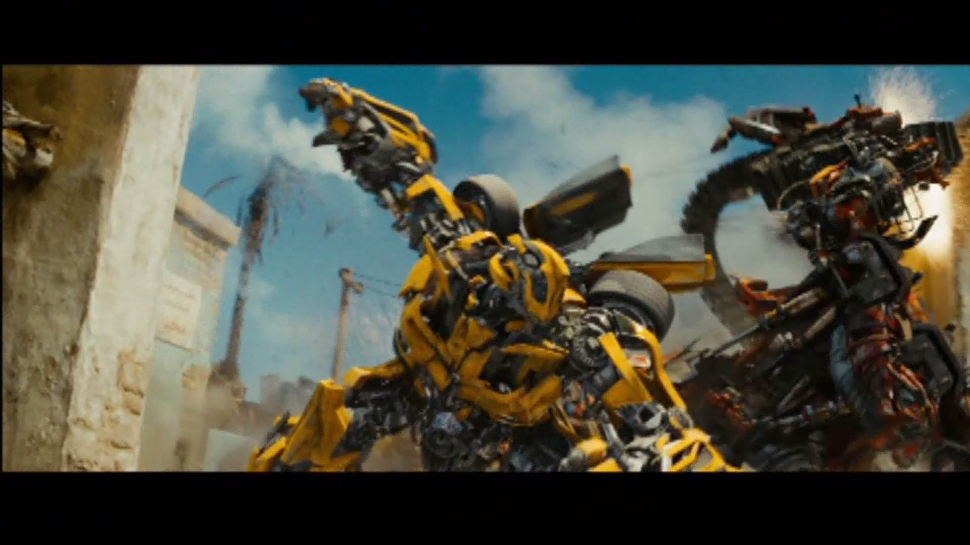 transformers revenge of the fallen bumblebee vs rampage and ravage