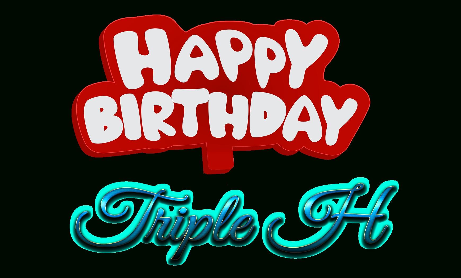 triple h happy birthday name logo   png names