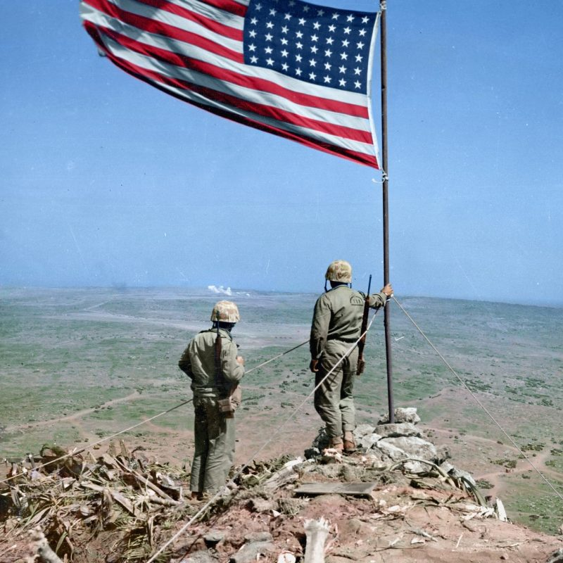 10 New Iwo Jima Flag Raising Color FULL HD 1080p For PC Desktop 2018 free download two us marines look over iwo jima from atop mt suribachi where 1 800x800