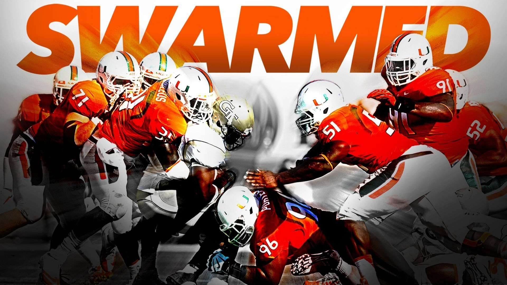 university of miami football wallpapers group (50+)