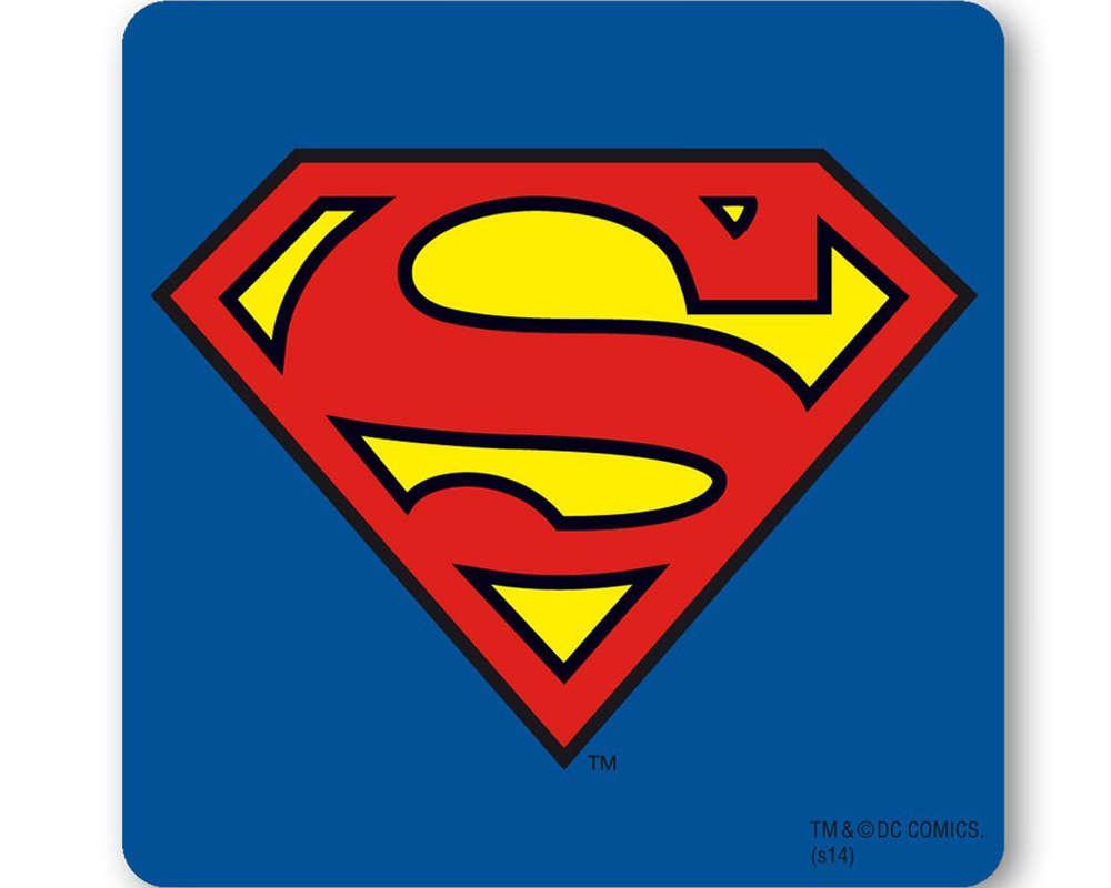 untersetzer / bierdeckel superman symbol