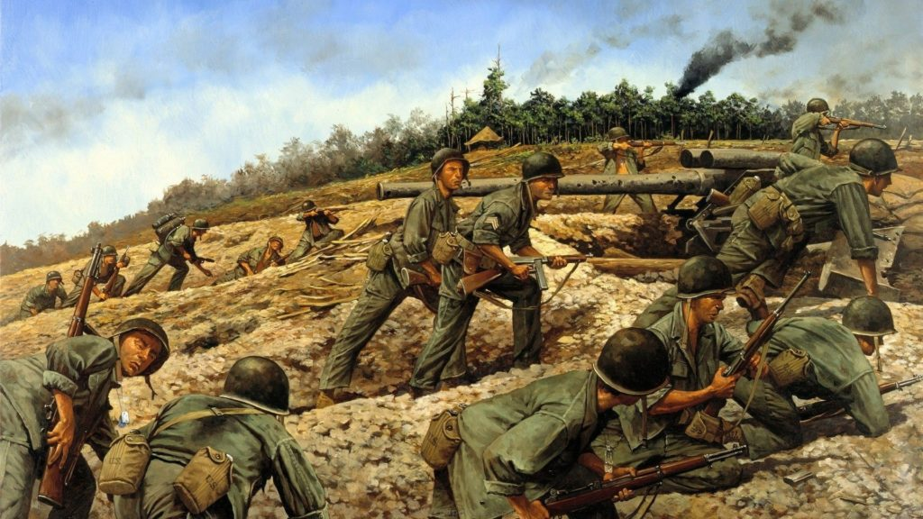 10 Most Popular Vietnam War Wallpaper 1920X1080 FULL HD 1920×1080 For PC Background 2018 free download us forces battling up a hill in vietnam vietnam war art 1024x576