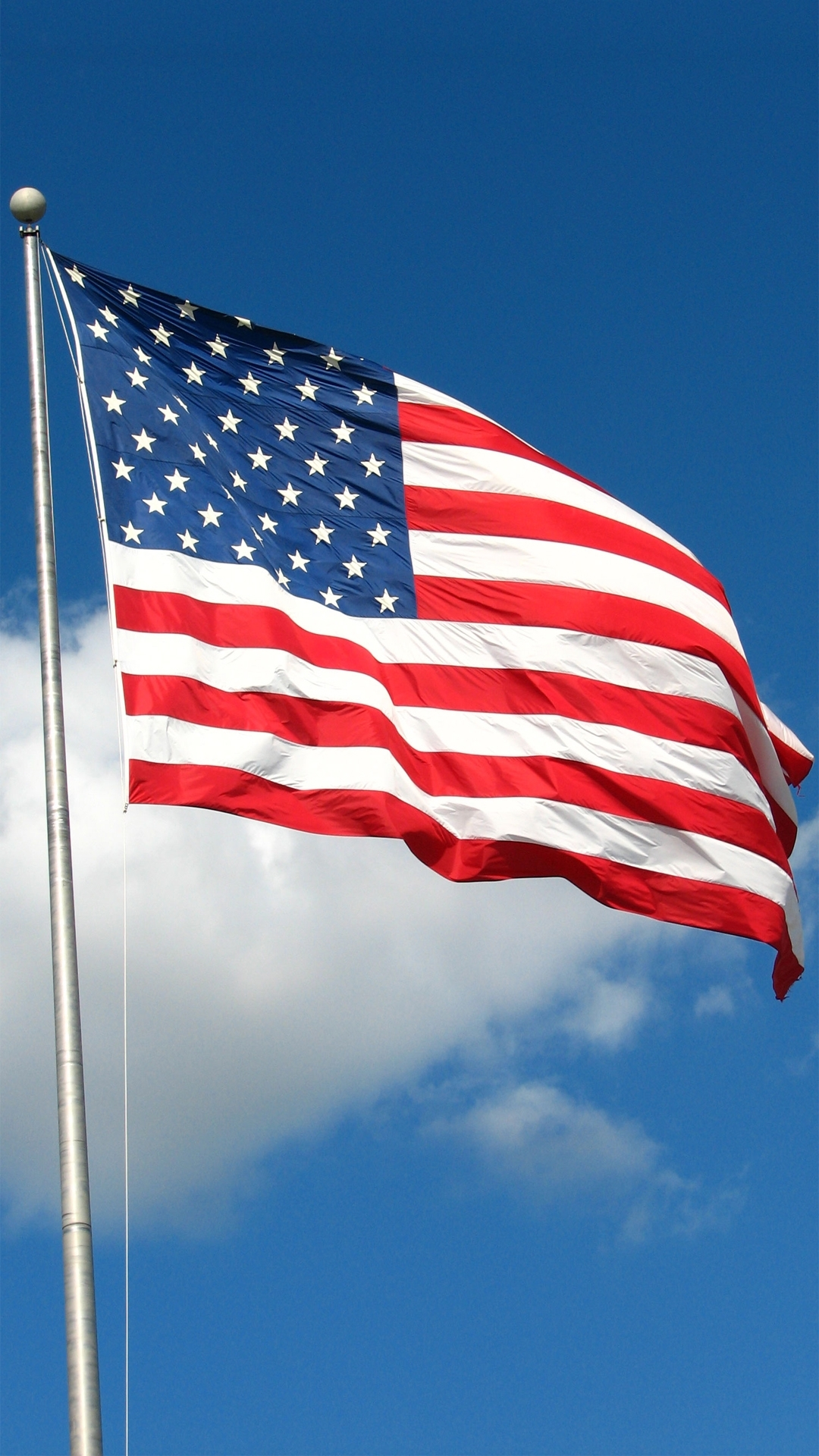 usa american flag sky android wallpaper free download