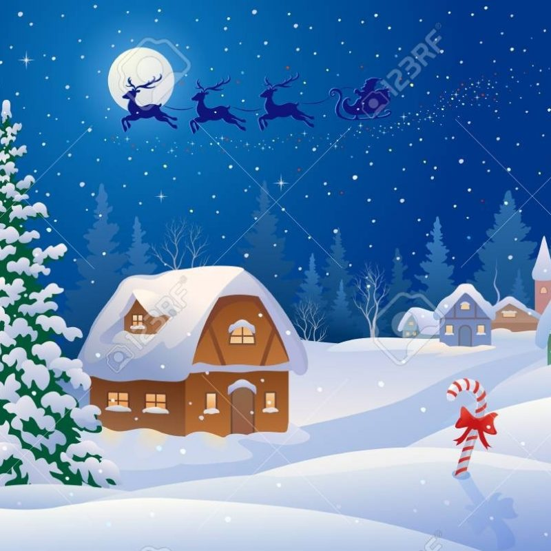 10 New Snowy Christmas Scenes Photos FULL HD 1080p For PC Background 2018 free download vector illustration of a christmas scene with santa sleigh flying 800x800