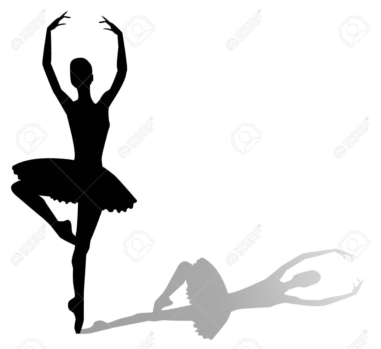 vector silhouette dancing girl royalty free cliparts, vectors, and