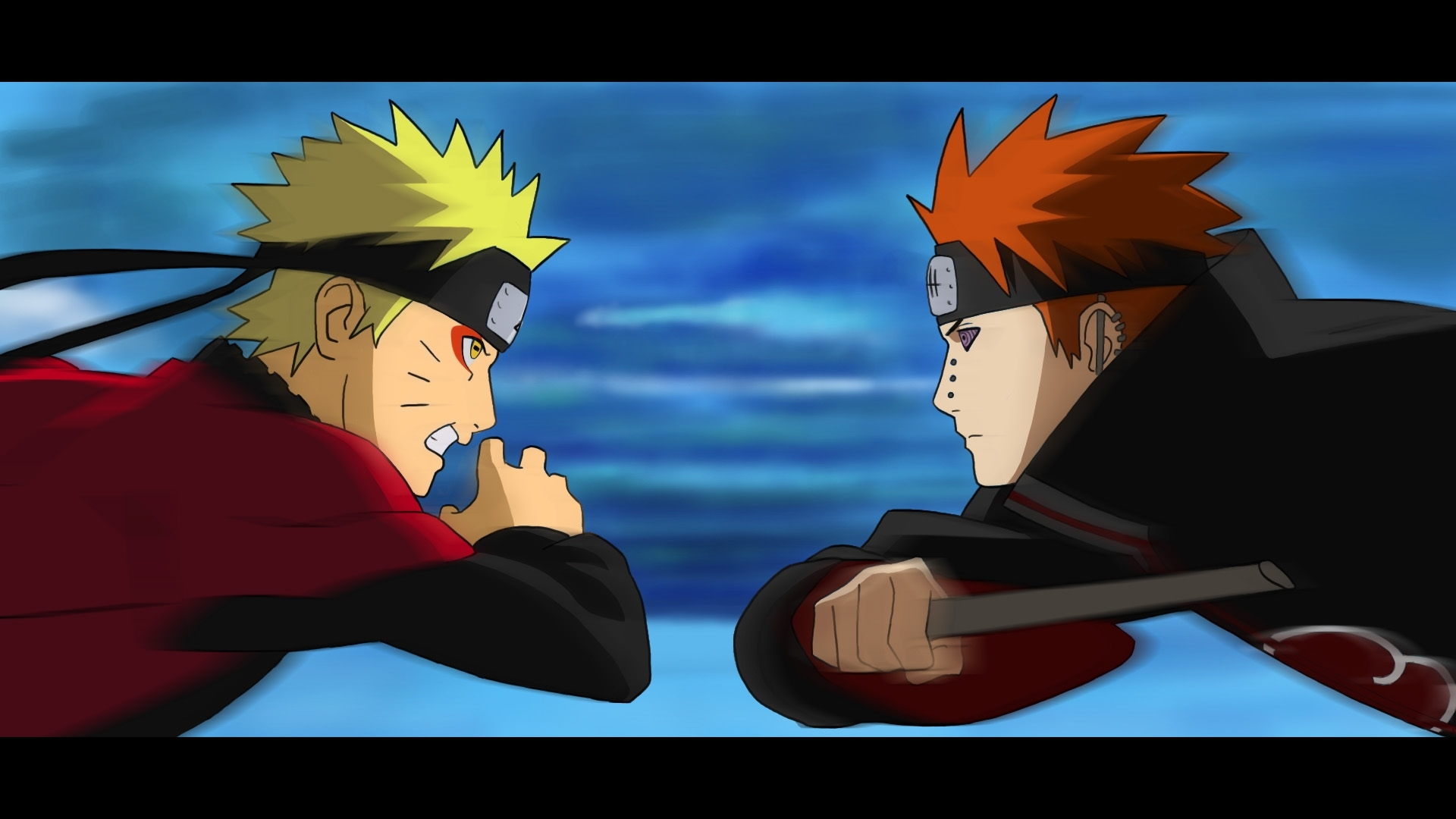 video - naruto vs pain | anime fight - artistenumerique