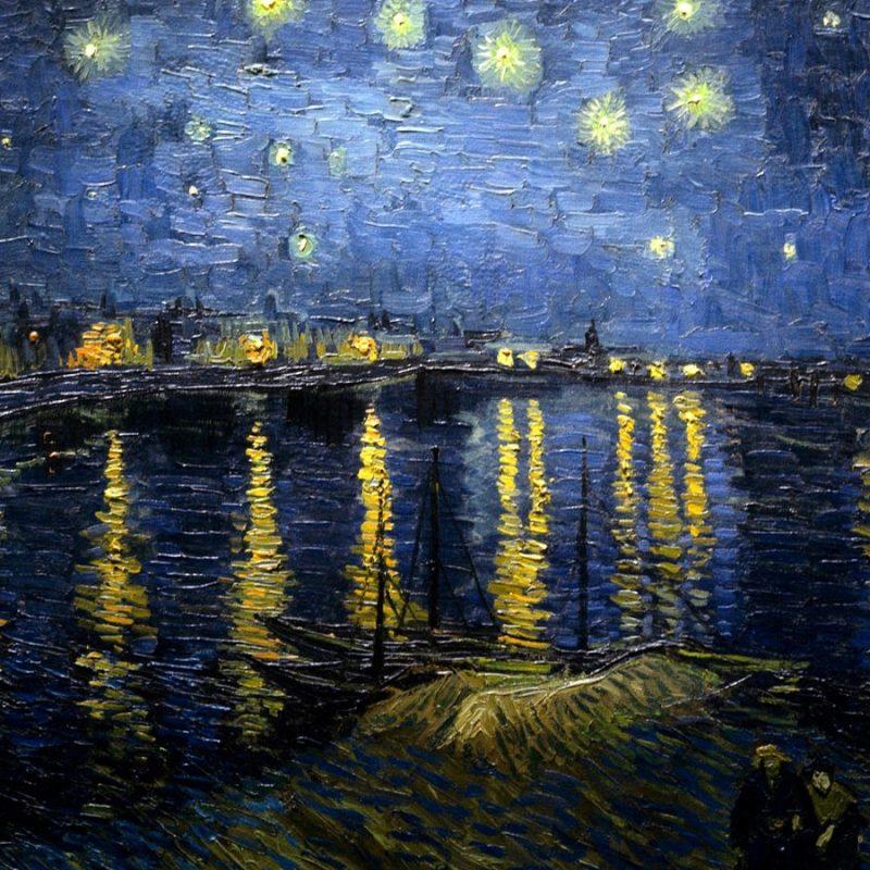 10 Best Van Gogh Wallpaper Hd FULL HD 1080p For PC Background 2018 free download vincent van gogh nuit etoilee au dessus du rhone 10 000 fonds d 800x800
