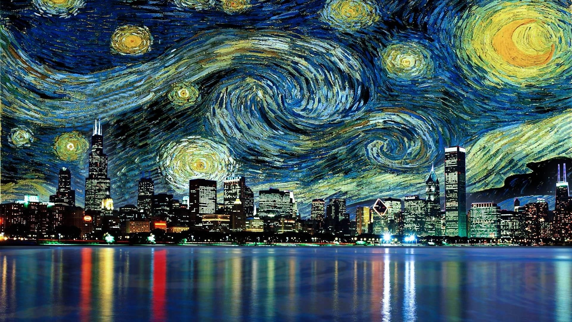 vincent van gogh - the starry night wallpaper | wallpaper studio 10