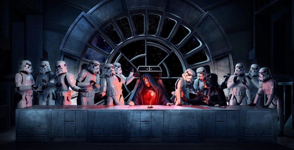 10 Best Star Wars Last Supper Wallpaper FULL HD 1080p For PC Desktop 2020 free download wallpaper 2500x1278 px darth vader emperor palpatine star 1024x523