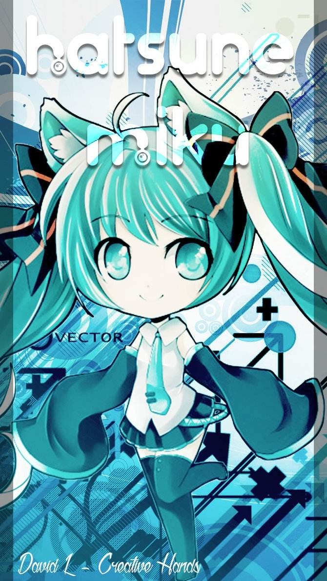 wallpaper android - hatsune miku chibidavidl-creativehand on