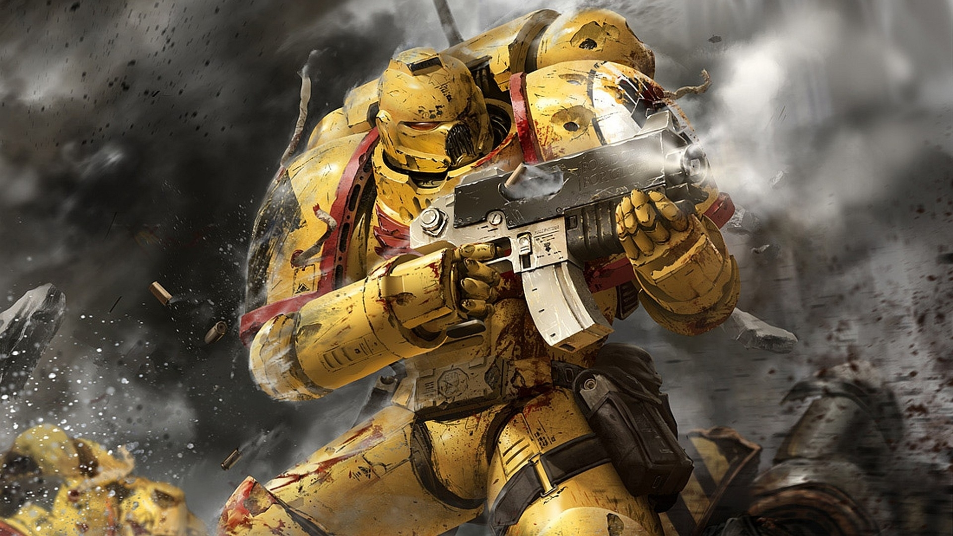 wallpaper : battle, warhammer 40 000, toy, machine, space marines