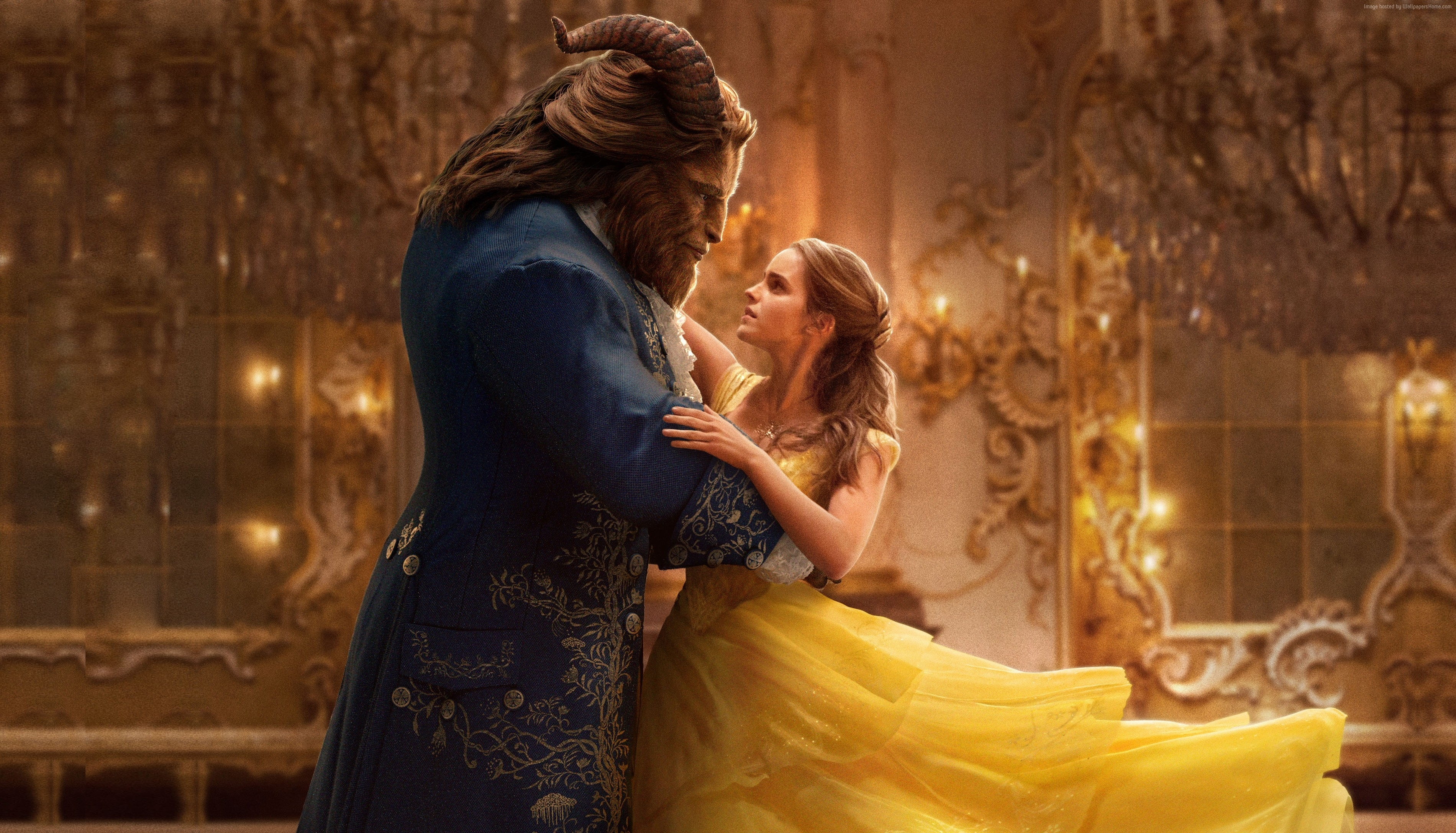 wallpaper beauty and the beast, emma watson, best movies, movies #12497