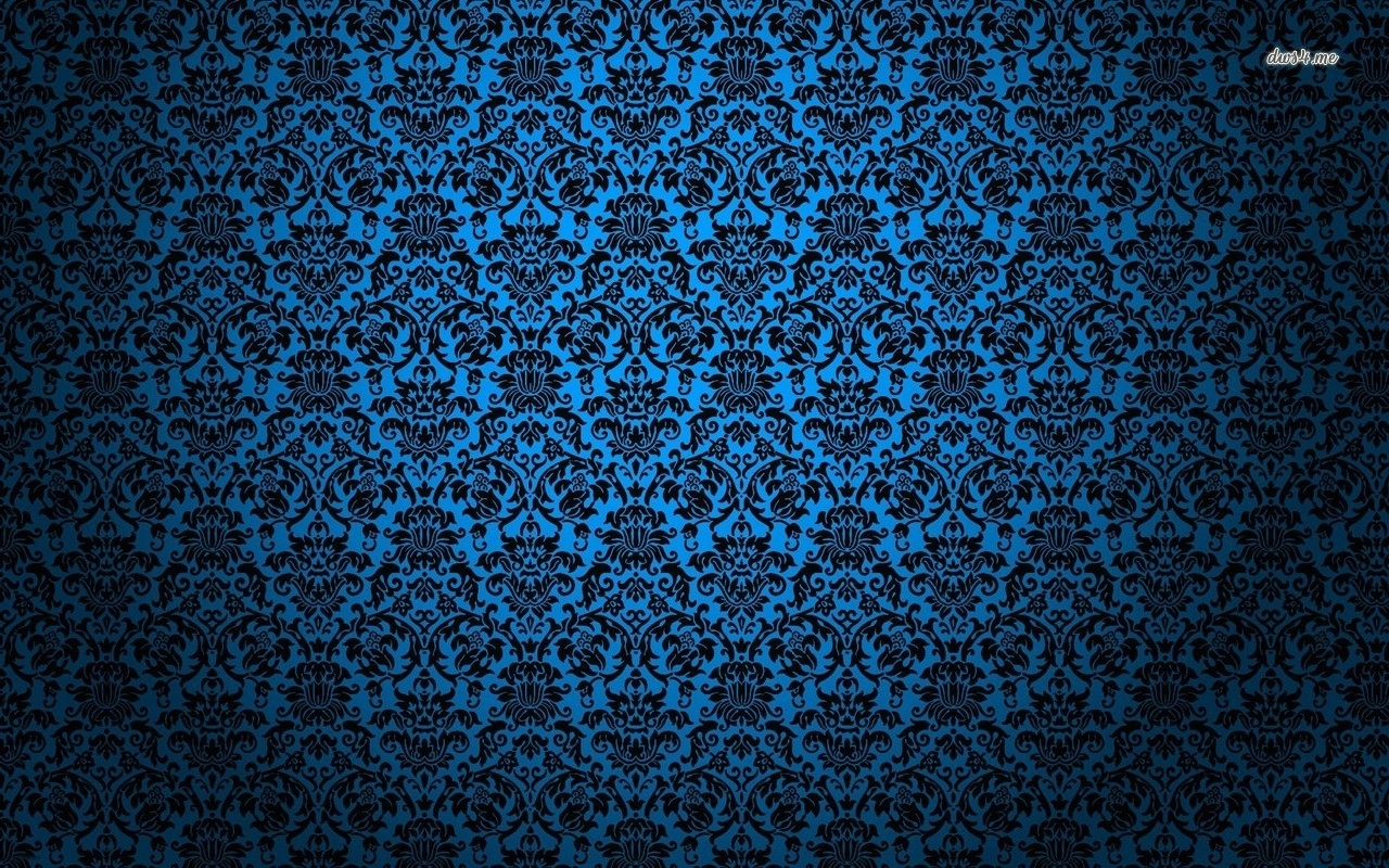 wallpaper blue rose pattern | blue vintage pattern wallpaper