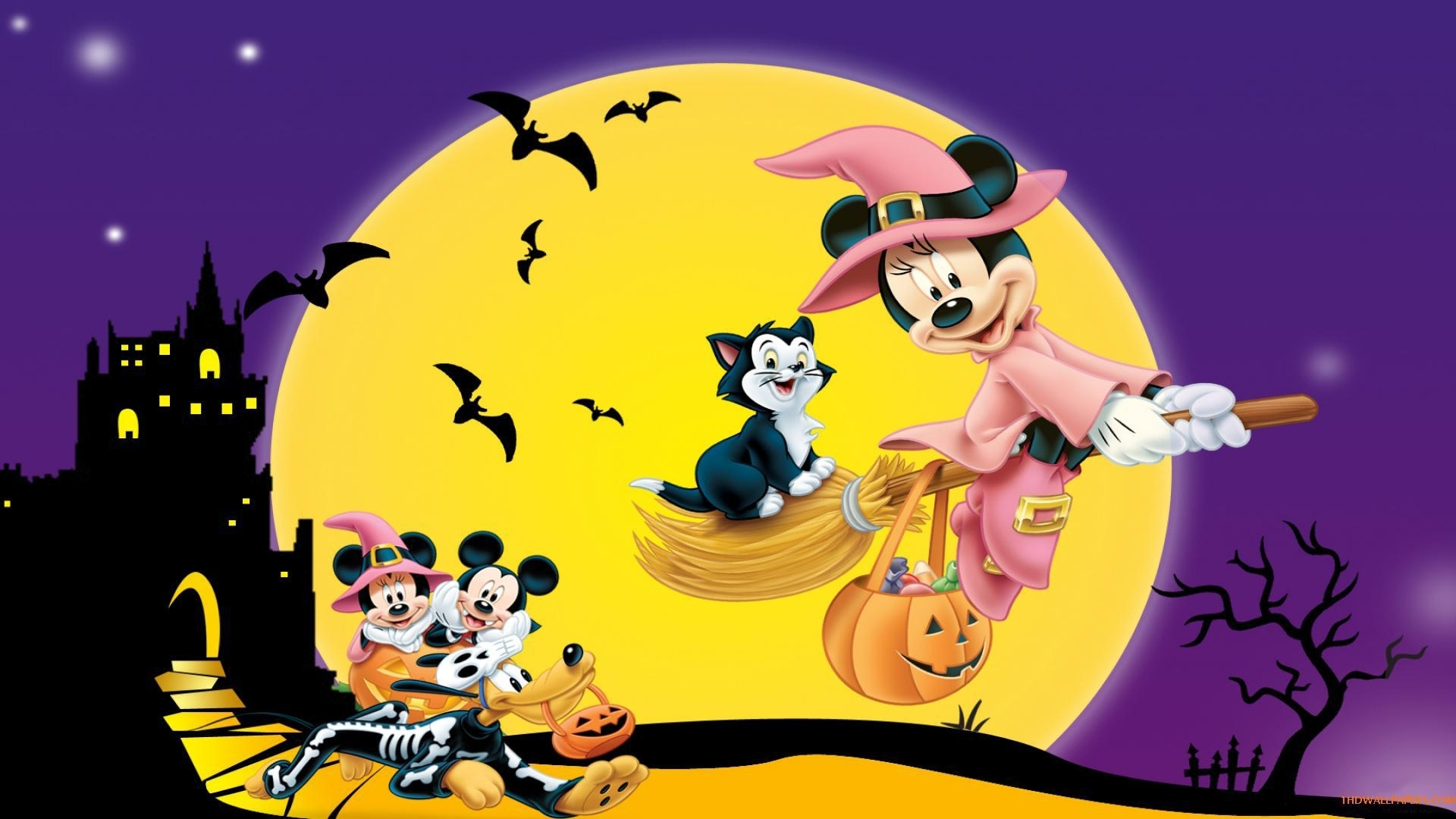wallpaper disney cartoon,mickey,mickey mouse ,holiday halloween hd