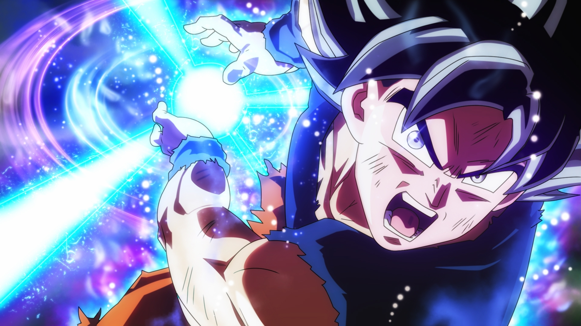 wallpaper : dragon ball super, son goku, ultra instinct goku
