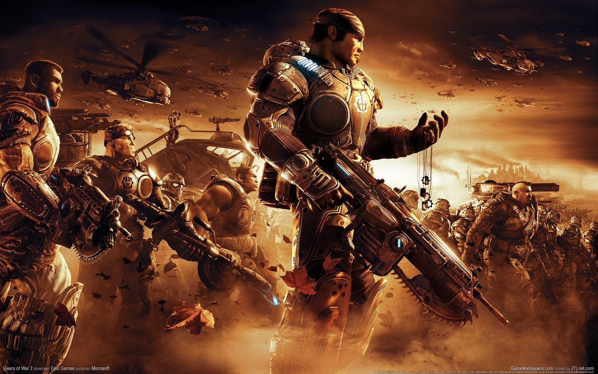 wallpaper gears of war 2 01 1920x1200 - 10 000 fonds d'écran hd