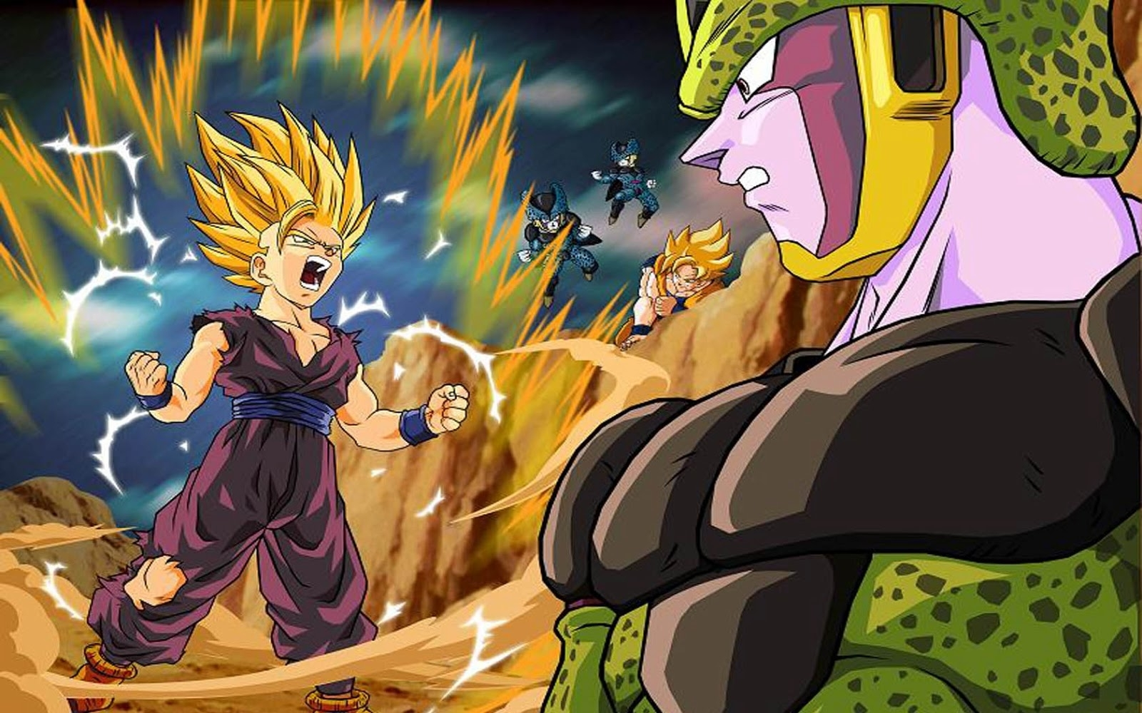 wallpaper gohan vs cell | wallpapers dragon ball z