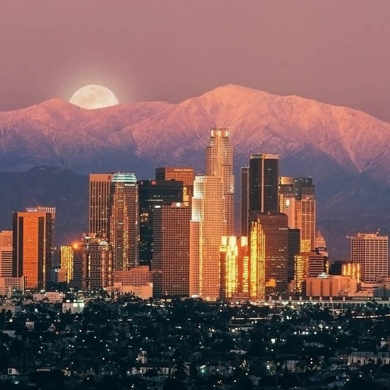 10 Top Los Angeles Hd Wallpaper FULL HD 1080p For PC Desktop 2021 free download wallpaper los angeles skyscrapers sunrise mountains horizon 800x800