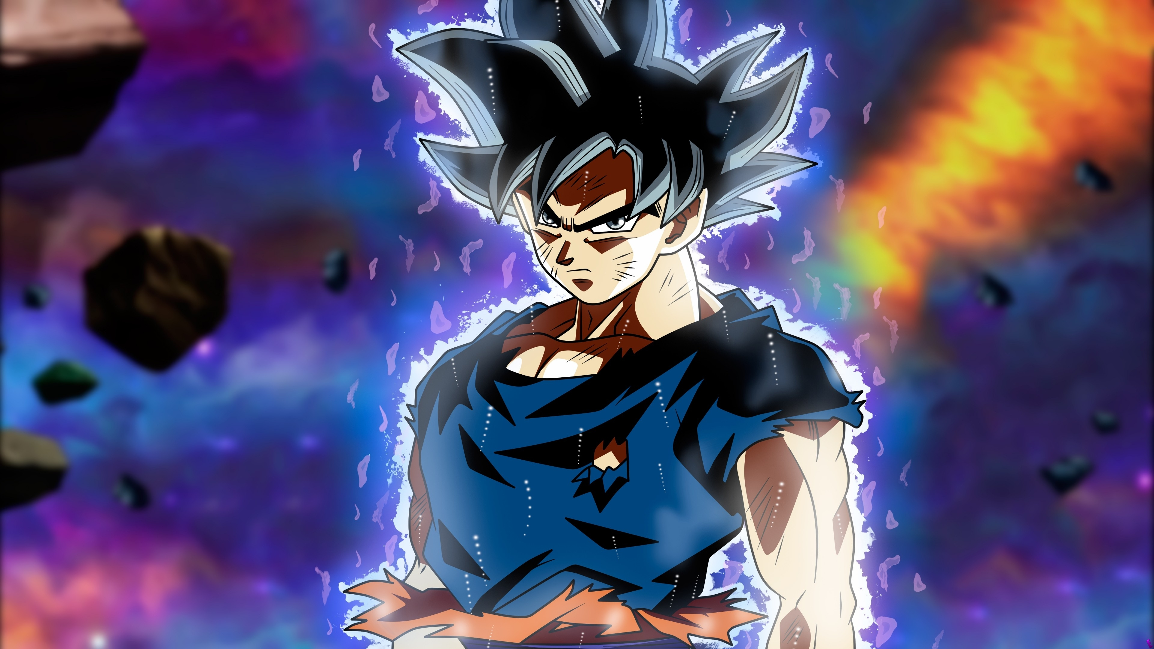 wallpaper ultra instinct goku, dragon ball super, 5k, anime, #12345