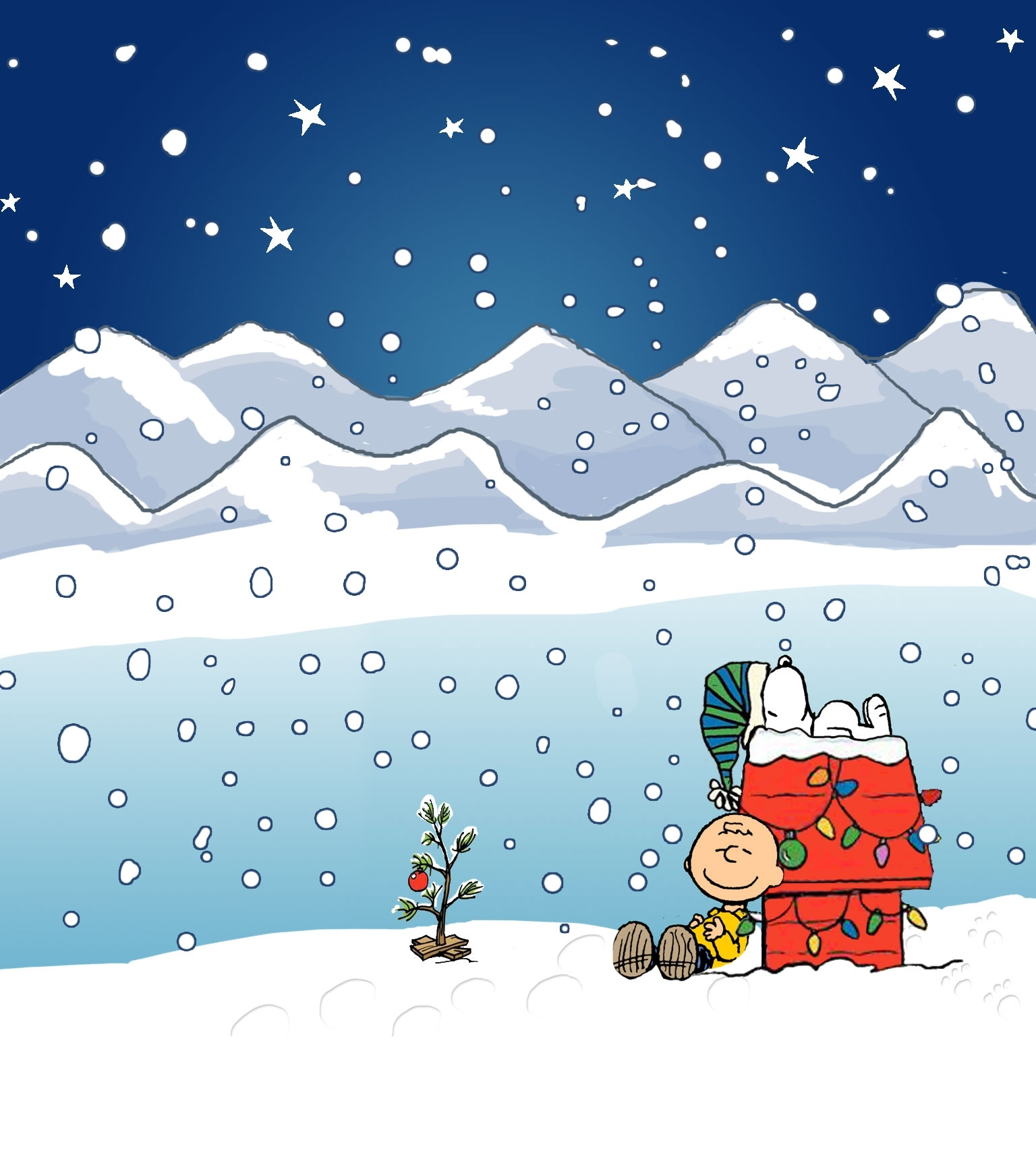 wallpapers for > charlie brown christmas wallpaper iphone