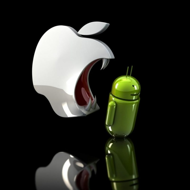10 Best Android Vs Apple Wallpapers FULL HD 1080p For PC Background 2018 free download wallpapers hd apple vs android black background funniest jokes 800x800