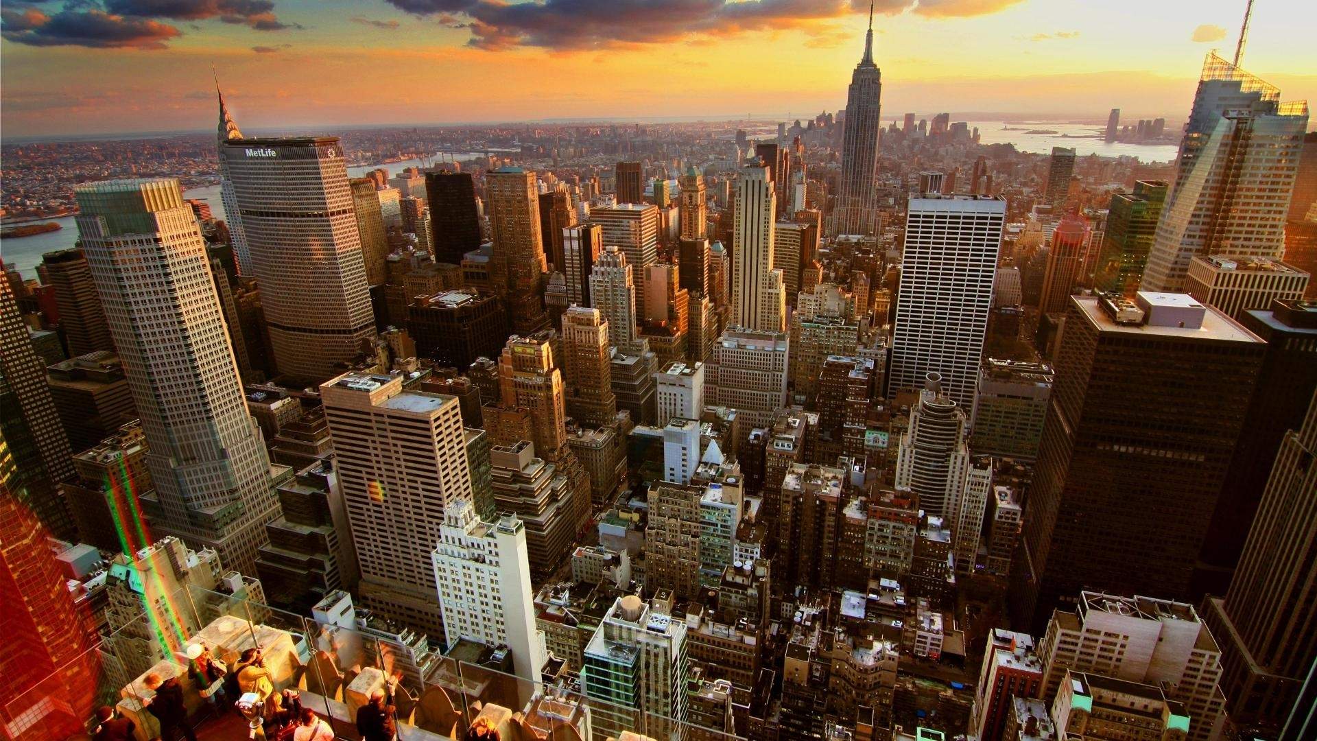 wallpapers new york sunset on city 1920x1080. - media file
