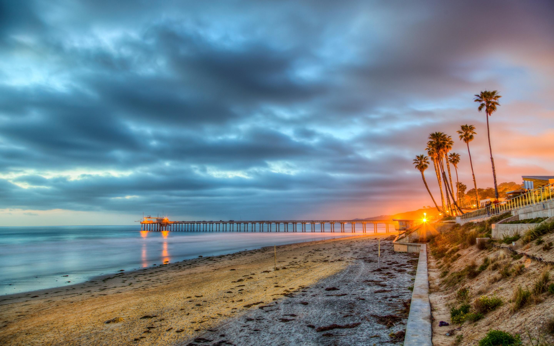 wallpapers san diego california usa beach sea hdr nature 2880x1800