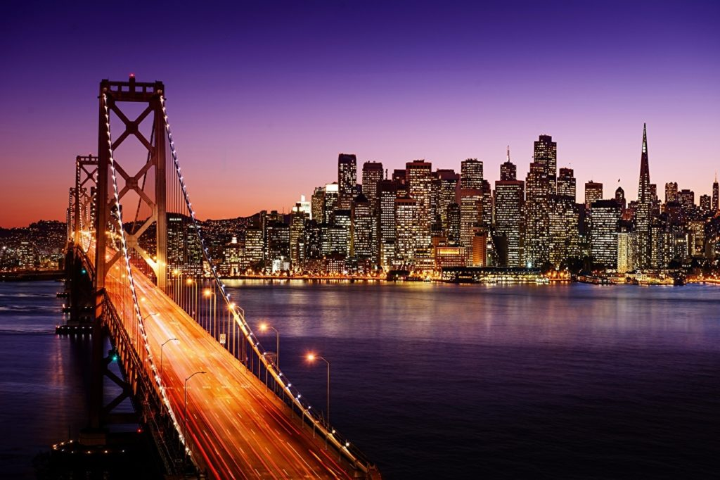 10 Most Popular San Francisco Night Wallpaper FULL HD 1920×1080 For PC Desktop 2018 free download wallpapers san francisco usa bridges night rivers skyscrapers cities 1024x682