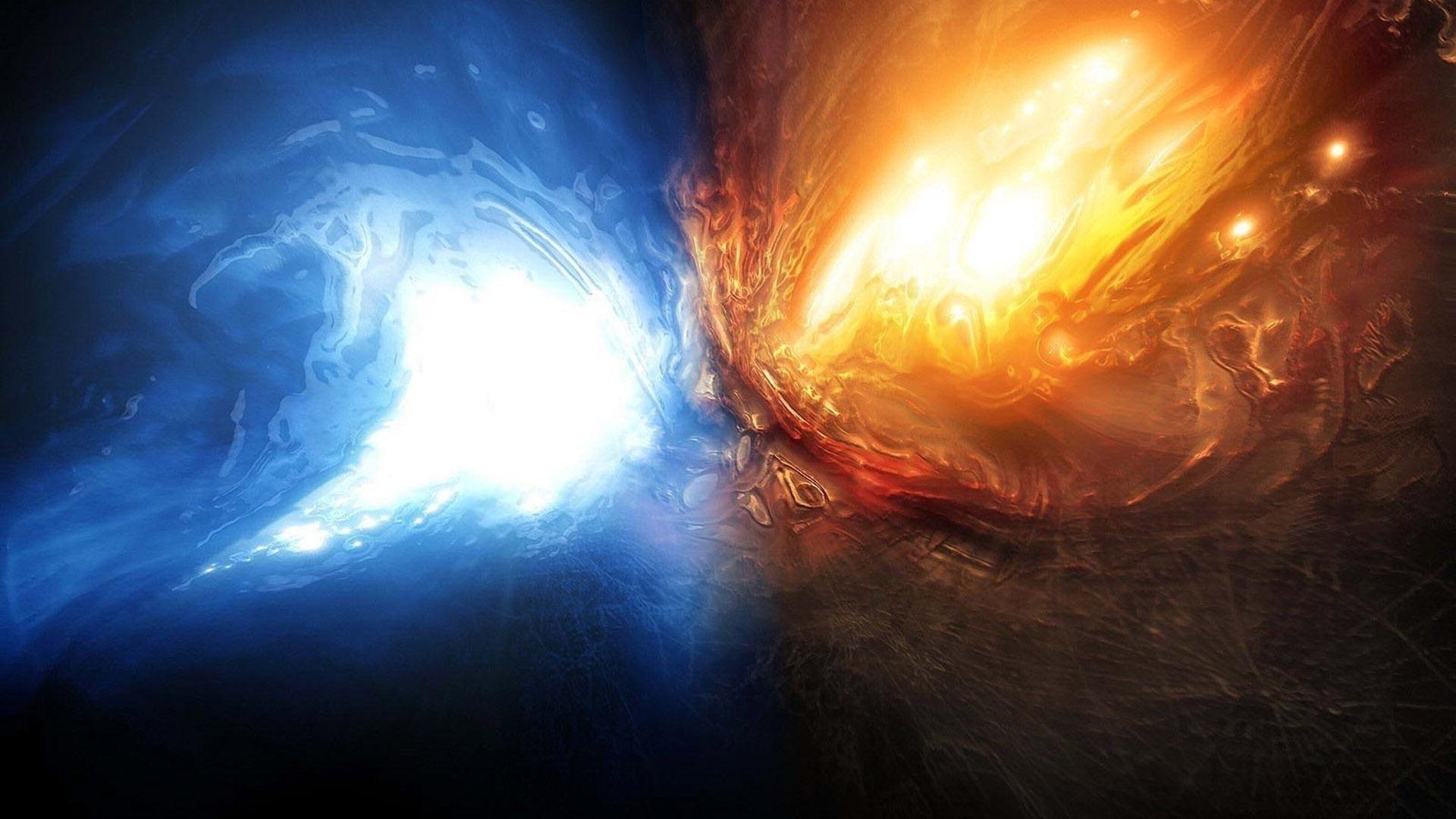 water fire desktop wallpapers | 3d & abstract wallpapers | pinterest