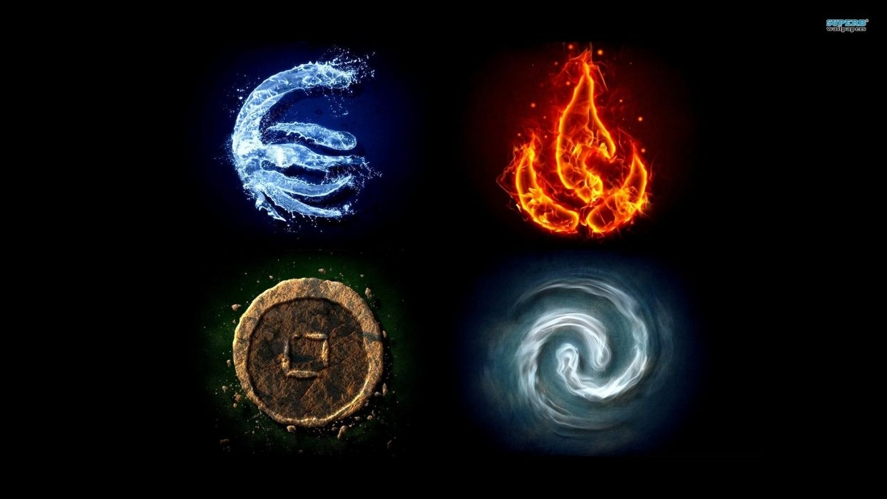 water fire earth avatar: the last airbender air symbols the